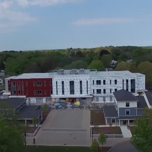 Merrimack College New Academic Building - May 2017 - Drone Video